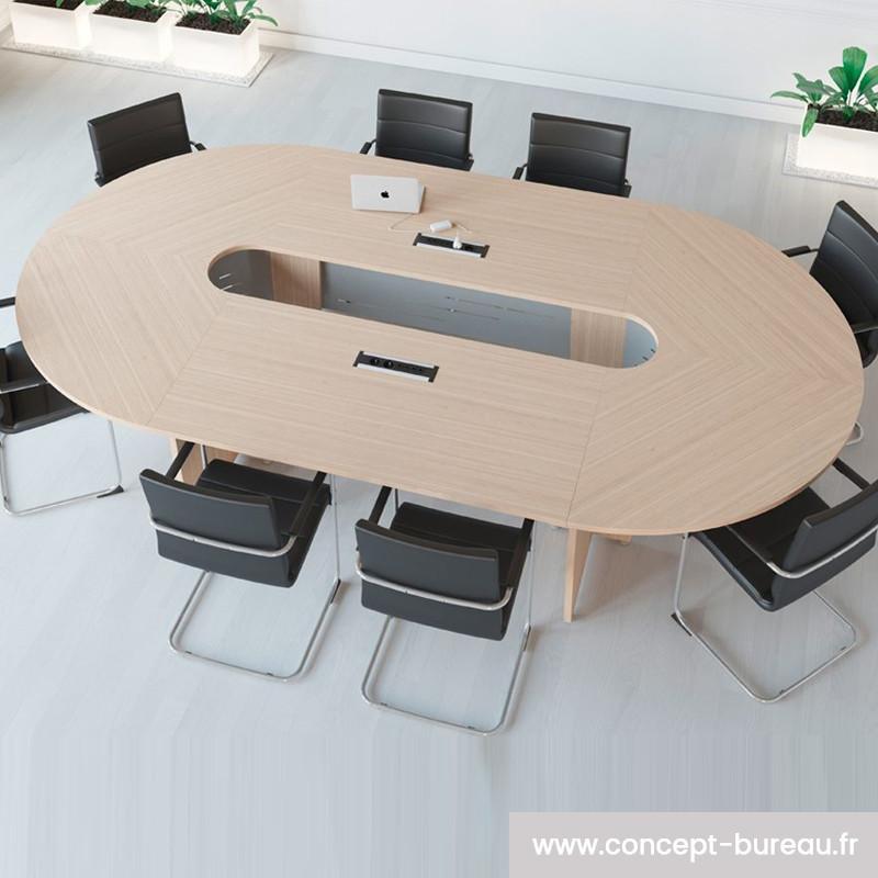 Table de conférence pour 8 à 12 personnes