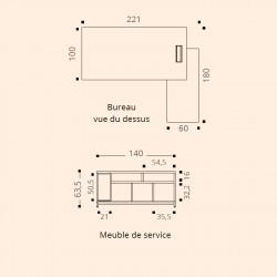 Bureau de direction design avec retour CANOPEE