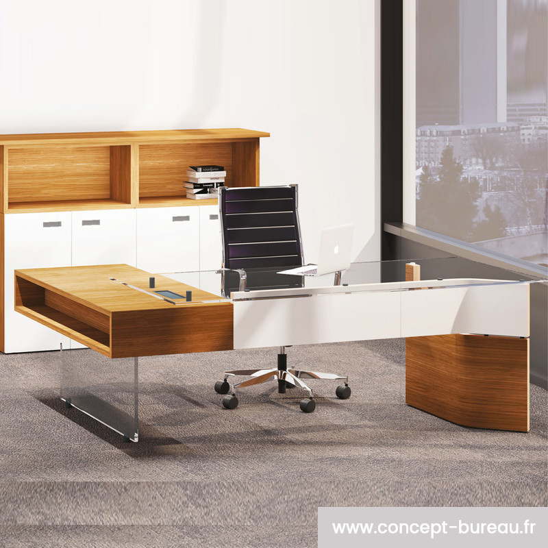 Bureau de direction en verre design