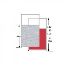 Cloison acoustique semi-vitrée - SHIRU