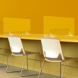 Panneau en plexiglas pour bureau