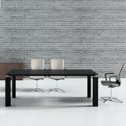 Table de réunion noir 8 personnes