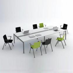Grande table de conférence