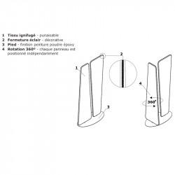 Panneau de séparation bureau 360° - STORAC