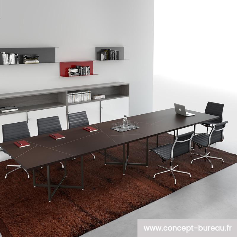 Table de réunion 12 personnes haut de gamme