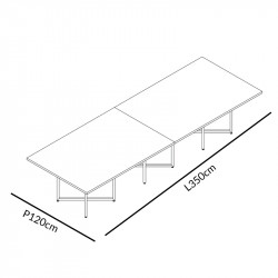 Table de réunion en cuir haut de gamme - HERALES
