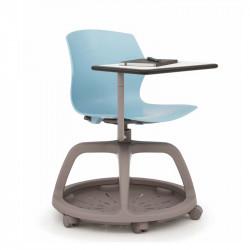Chaise avec tablette pivotante 360°