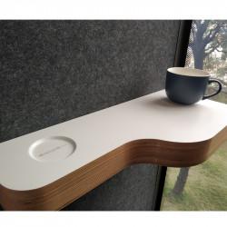 Tablette pour cabine acoustique bureau
