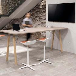 Table de réunion haute