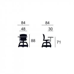 Chaise de formation avec tablette