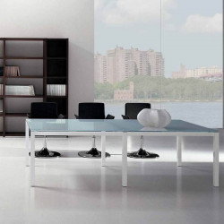 Table de réunion en verre -  APAKI