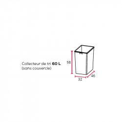 Corbeille de tri sélectif 60L