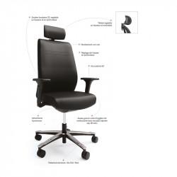 fauteuil de direction ergonomique