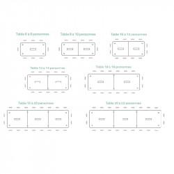 Dimensions table de conférence MONTIGNY