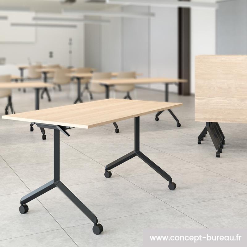 Table à plateau rabattable