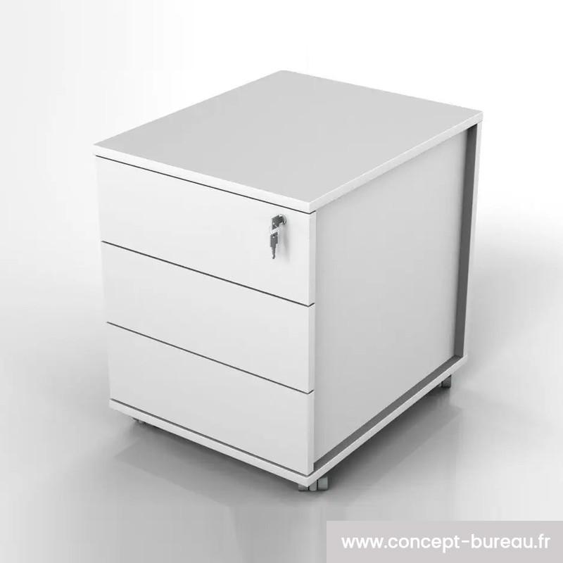 Caisson mobile 3 tiroirs mélamine - BASILE