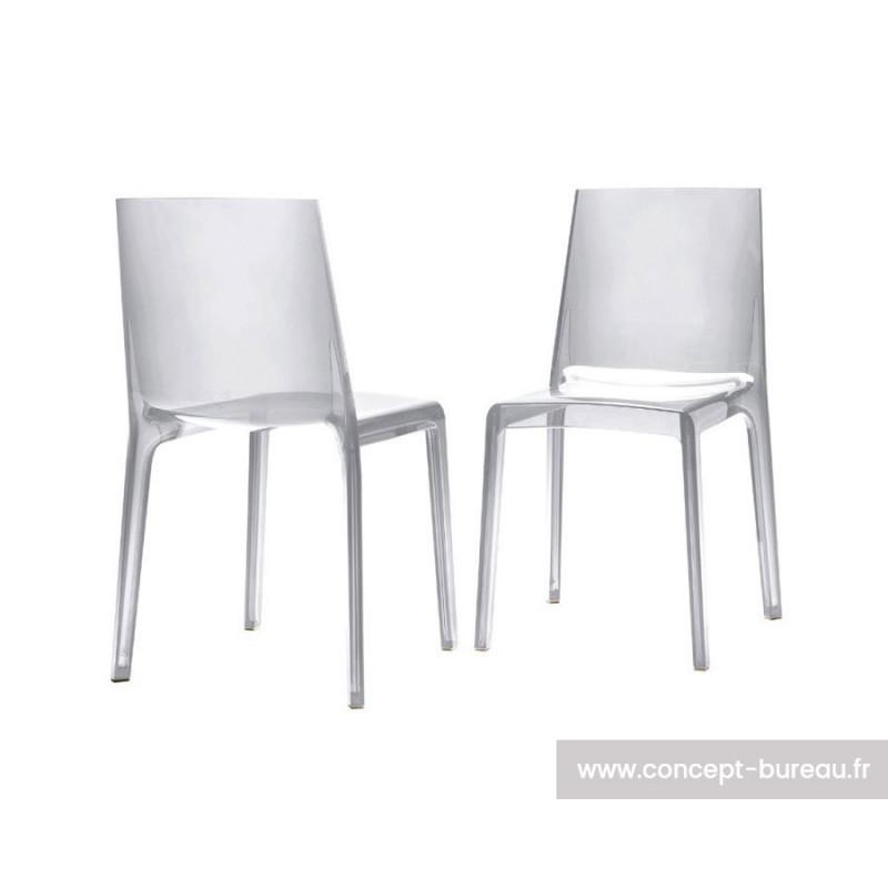 Lot de 2 chaises en polypropylène EVELINE