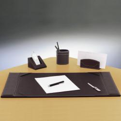 Set de bureau brun foncé