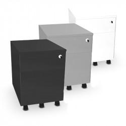 Caisson mobile 2 tiroirs en métal - MUZE