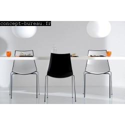 Chaises avec coque en polypro 3D COLOUR