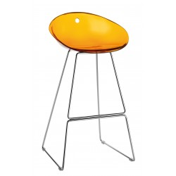Tabouret haut de bar GLISS orange
