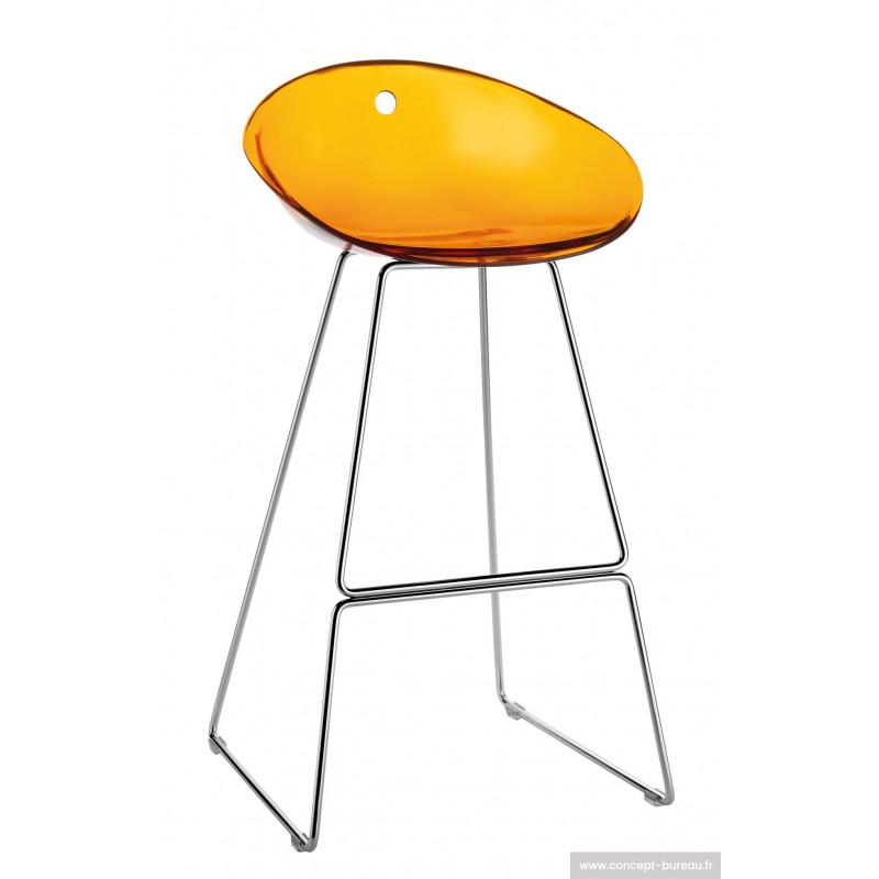 Tabouret haut de bar GLISS orange