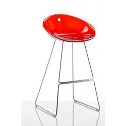 Tabouret haut de bar GLISS rouge