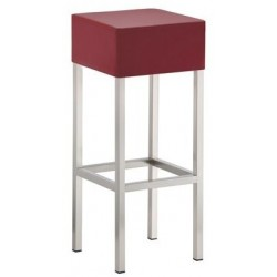 Tabouret haut de bar CUB bordeaux