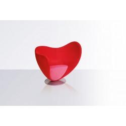 Chauffeuse de détente MON COEUR bicolore rouge et rose
