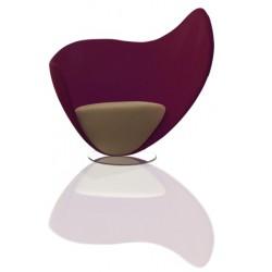 Chauffeuse de détente MON COEUR bicolore violet et beige