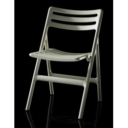 Chaise pliante FOLDING CHAIR coloris beige vue face