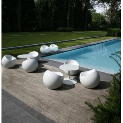 Tabouret BALL CHAIR finition blanc