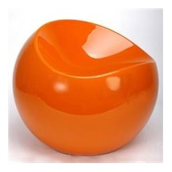 Tabouret BALL CHAIR finition orange