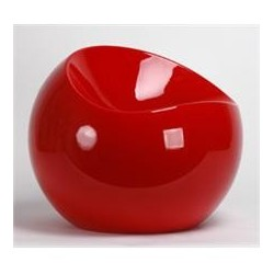 Tabouret BALL CHAIR finition rouge
