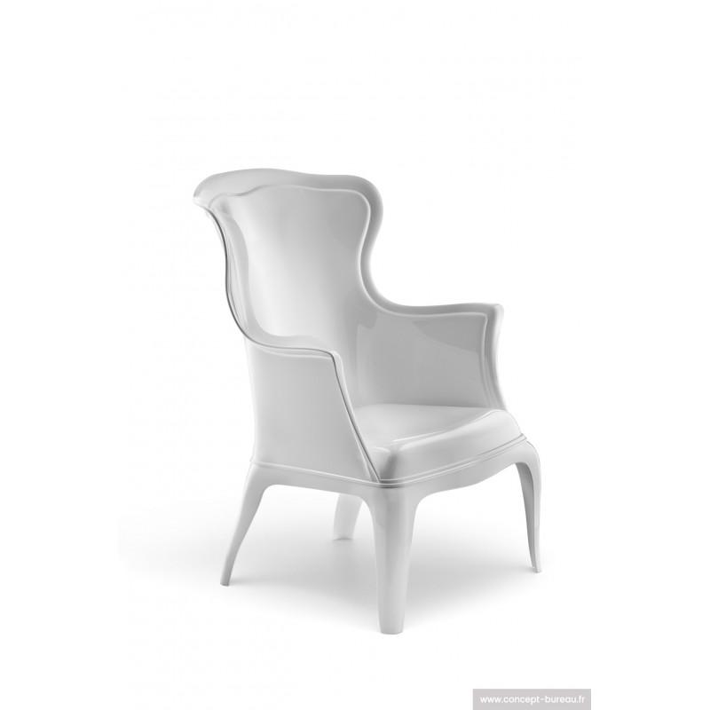 Fauteuil de salon ou d'accueil PASHA coloris blanc