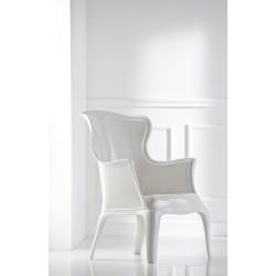Fauteuil de salon ou d'accueil PASHA ambiance coloris blanc