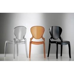 Lot de 2 chaises en polypro QUEEN photo ambiance
