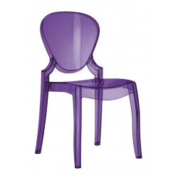 Lot de 2 chaises en polypro QUEEN finition violet