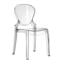 Lot de 2 chaises en polypro QUEEN finition transparent