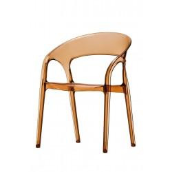Lot de 2 fauteuils en polypro GOSSIP coloris ambre