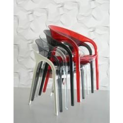 Lot de 2 fauteuils en polypro GOSSIP empilés