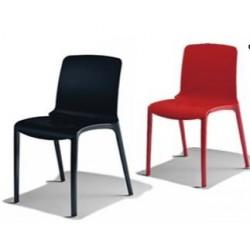 lot de 2 chaises avec coque en polypro TIFFANY