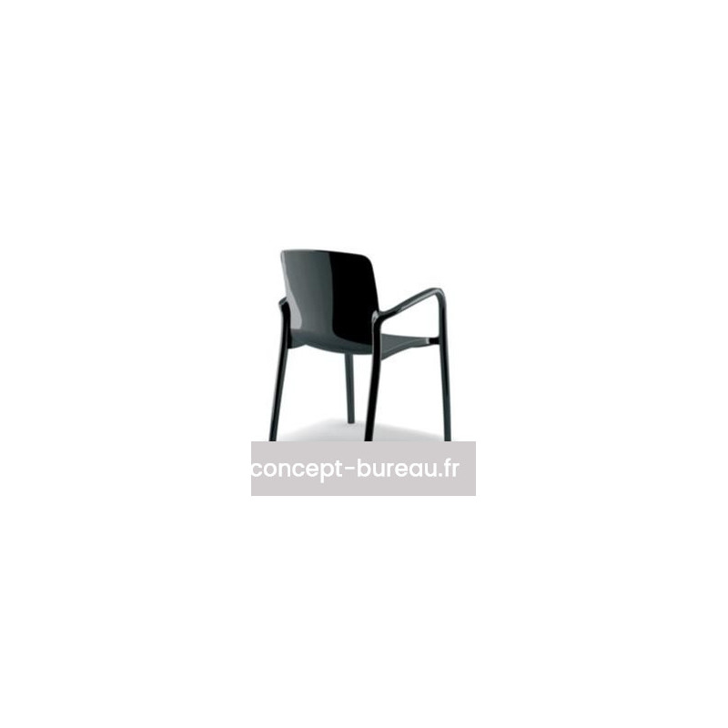 Lot de 2 fauteuils TIFFANY en nylon coloris noir
