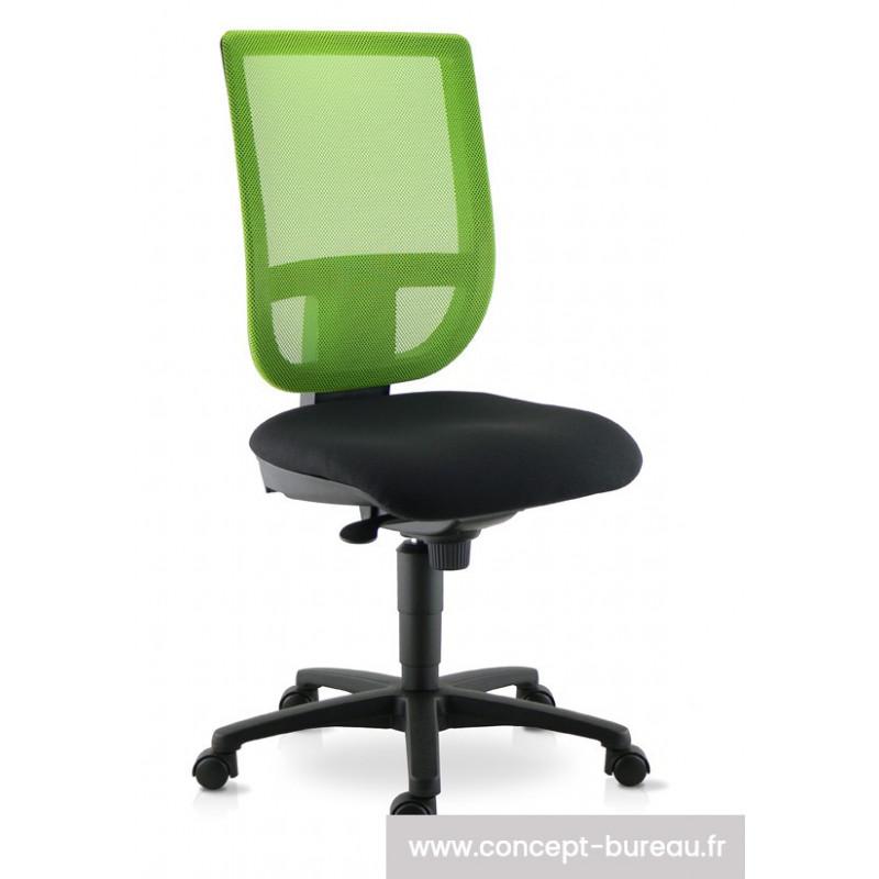 Chaise de travail TOURZELLE résille coloris vert