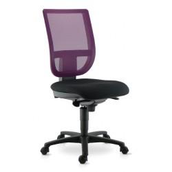Chaise de travail TOURZELLE résille coloris violet