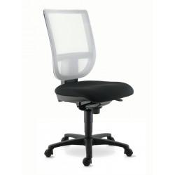 Chaise de travail TOURZELLE résille coloris blanc