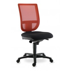 Chaise de travail TOURZELLE résille coloris orange