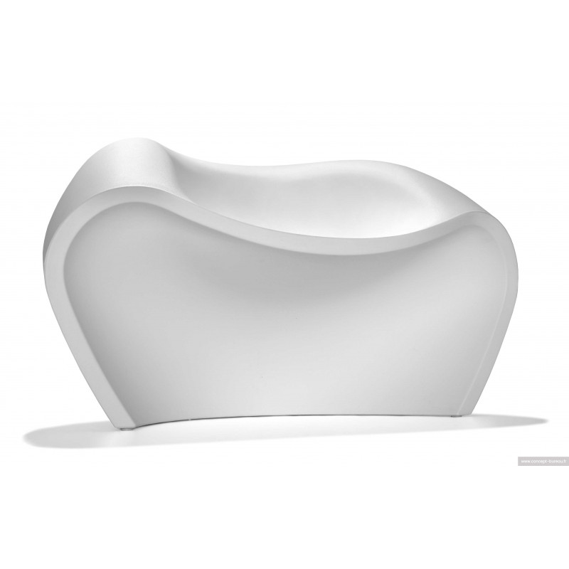 Chauffeuse de détente LOVELY - coloris blanc