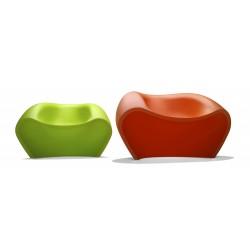 Chauffeuse de détente LOVELY coloris vert et coloris orange