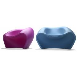 Chauffeuse de détente LOVELY coloris violet et coloris bleu
